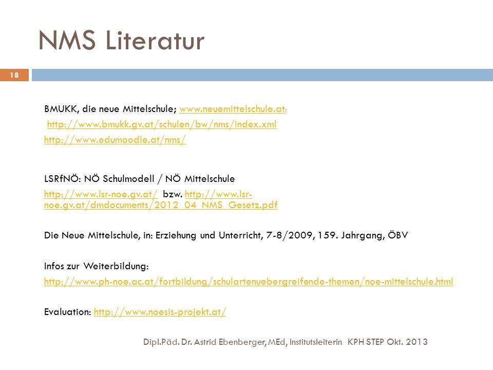 NMS Literatur