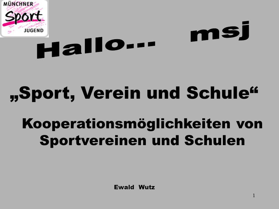 """""""Sport, Verein und Schule"""