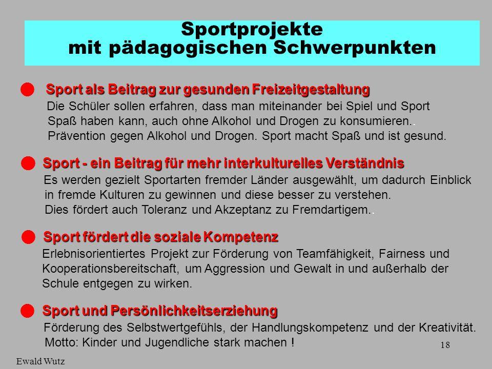 Sportprojekte mit pädagogischen Schwerpunkten