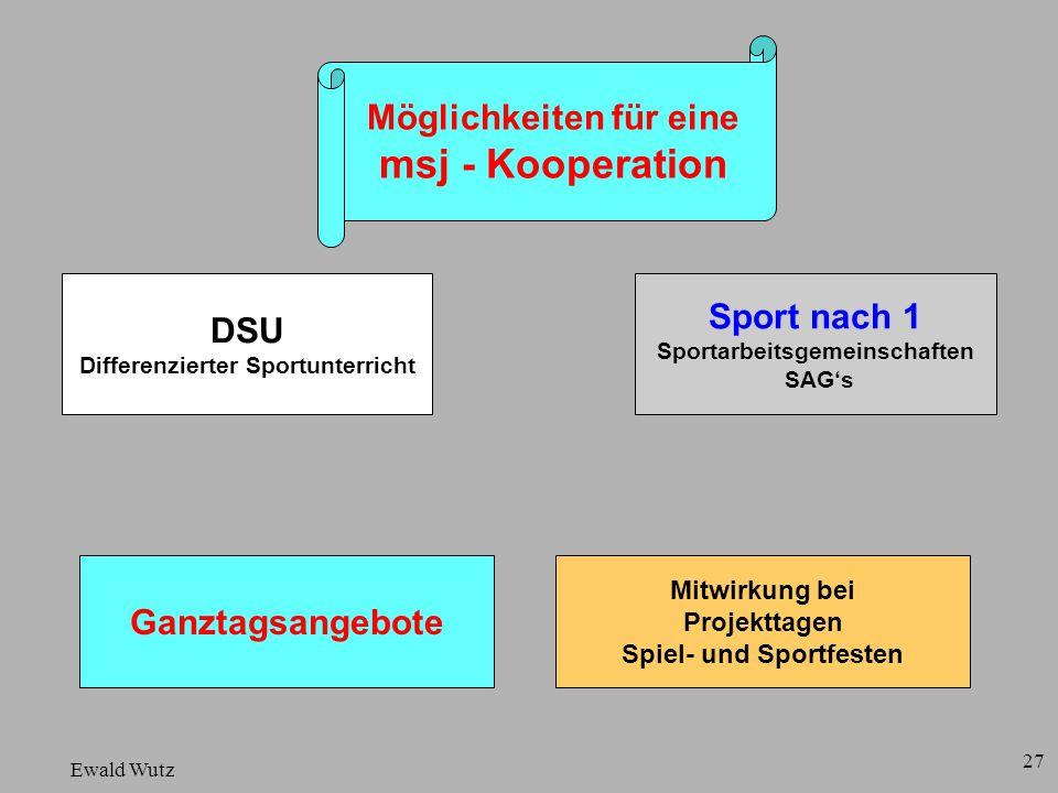 msj - Kooperation Möglichkeiten für eine Sport nach 1 DSU