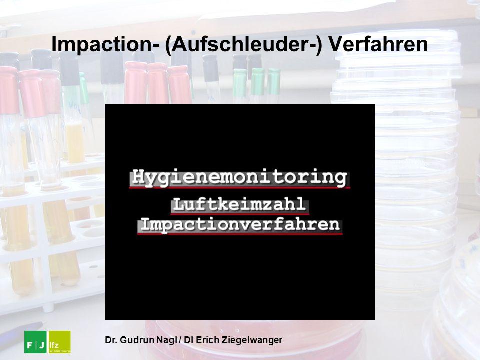 Impaction- (Aufschleuder-) Verfahren