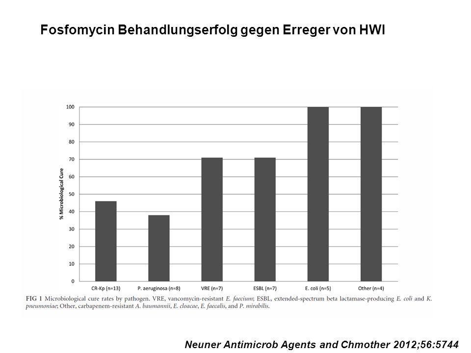 Fosfomycin Behandlungserfolg gegen Erreger von HWI