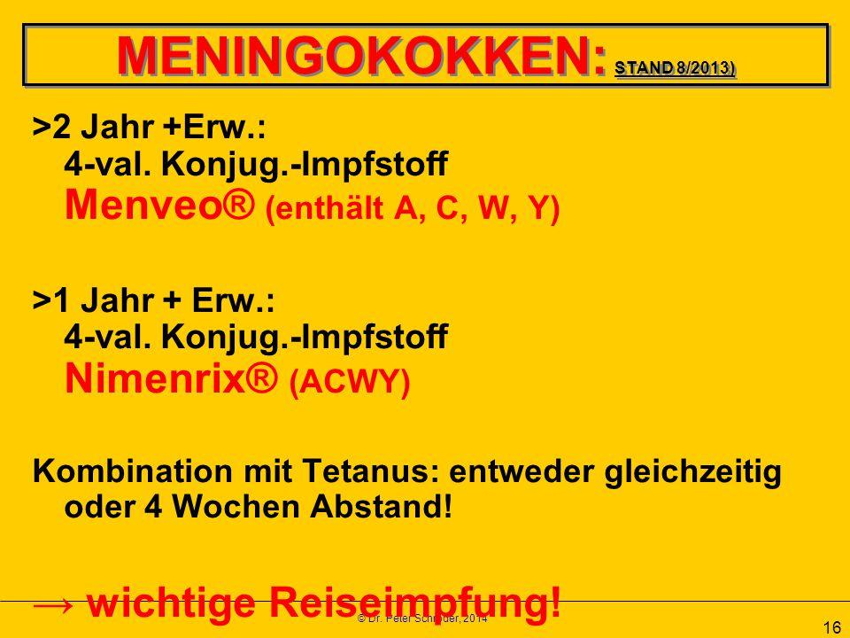 MENINGOKOKKEN: STAND 8/2013)