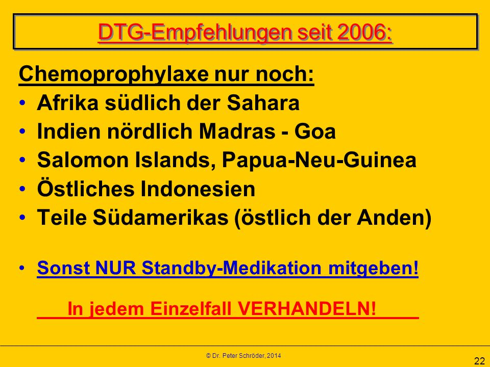 DTG-Empfehlungen seit 2006: