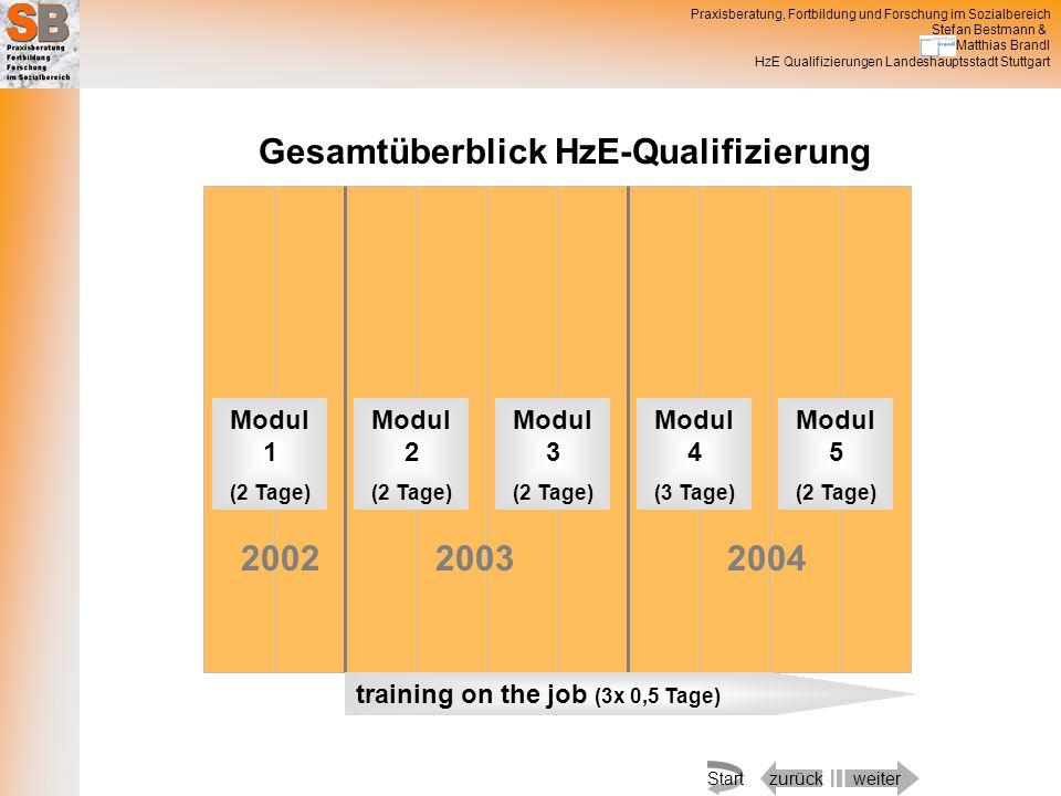 Gesamtüberblick HzE-Qualifizierung