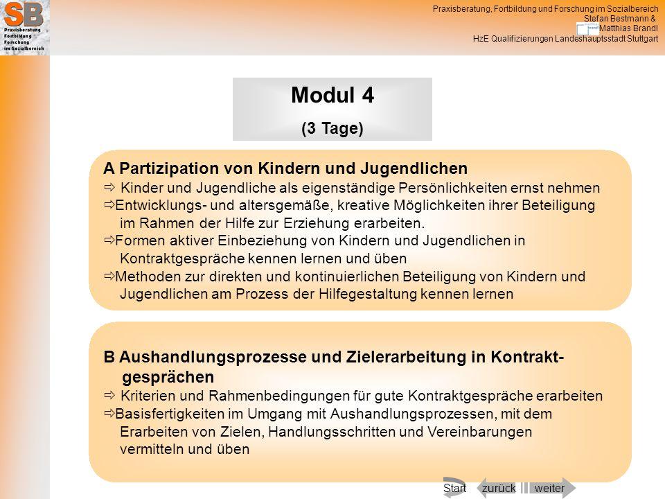 Modul 4 (3 Tage) A Partizipation von Kindern und Jugendlichen