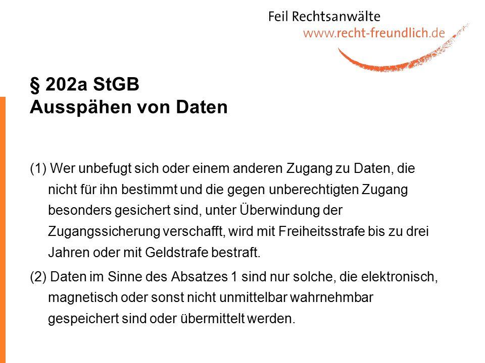 § 202a StGB Ausspähen von Daten