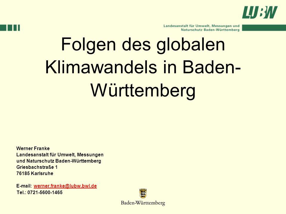 Folgen des globalen Klimawandels in Baden-Württemberg