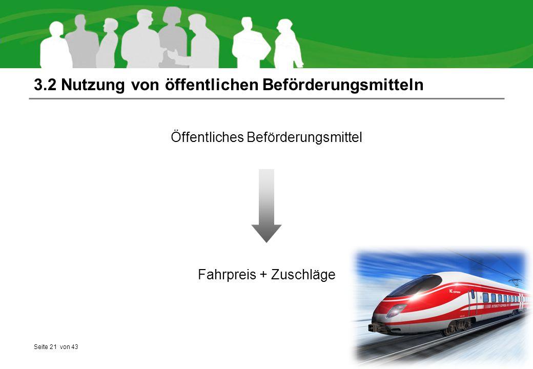 3.2 Nutzung von öffentlichen Beförderungsmitteln