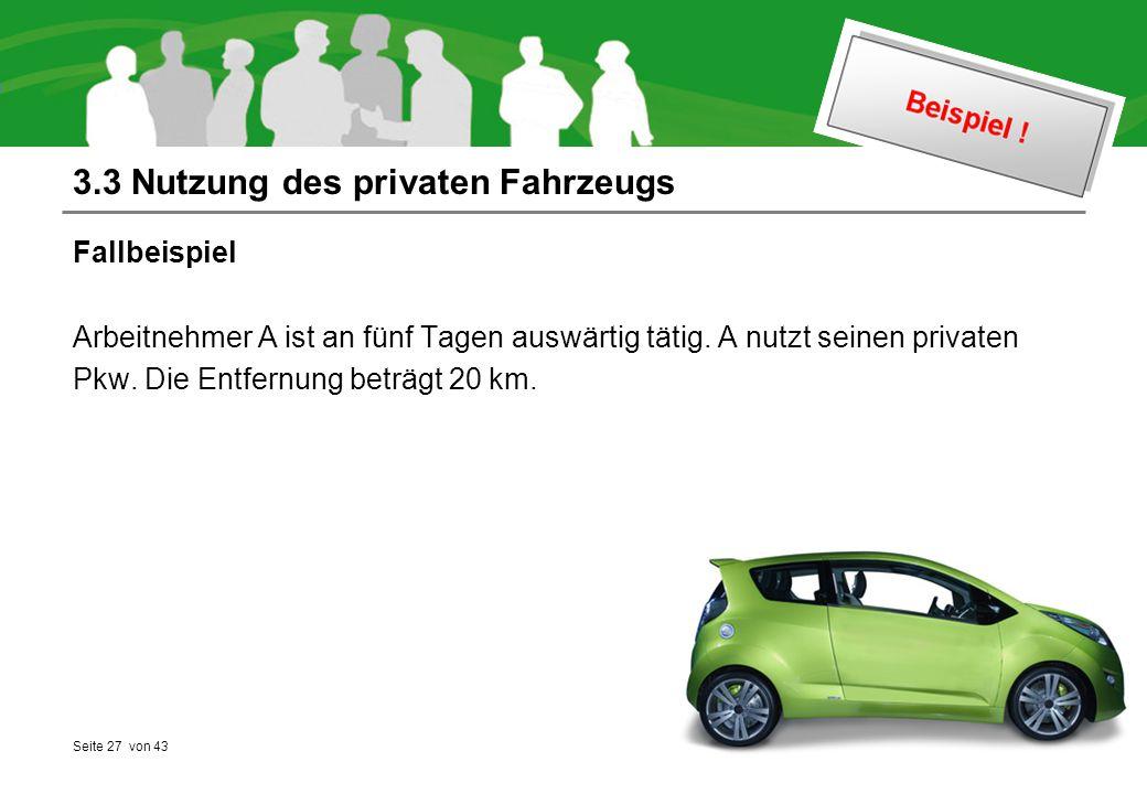 3.3 Nutzung des privaten Fahrzeugs