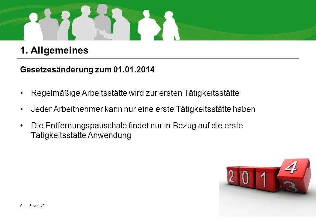 1. Allgemeines Gesetzesänderung zum 01.01.2014