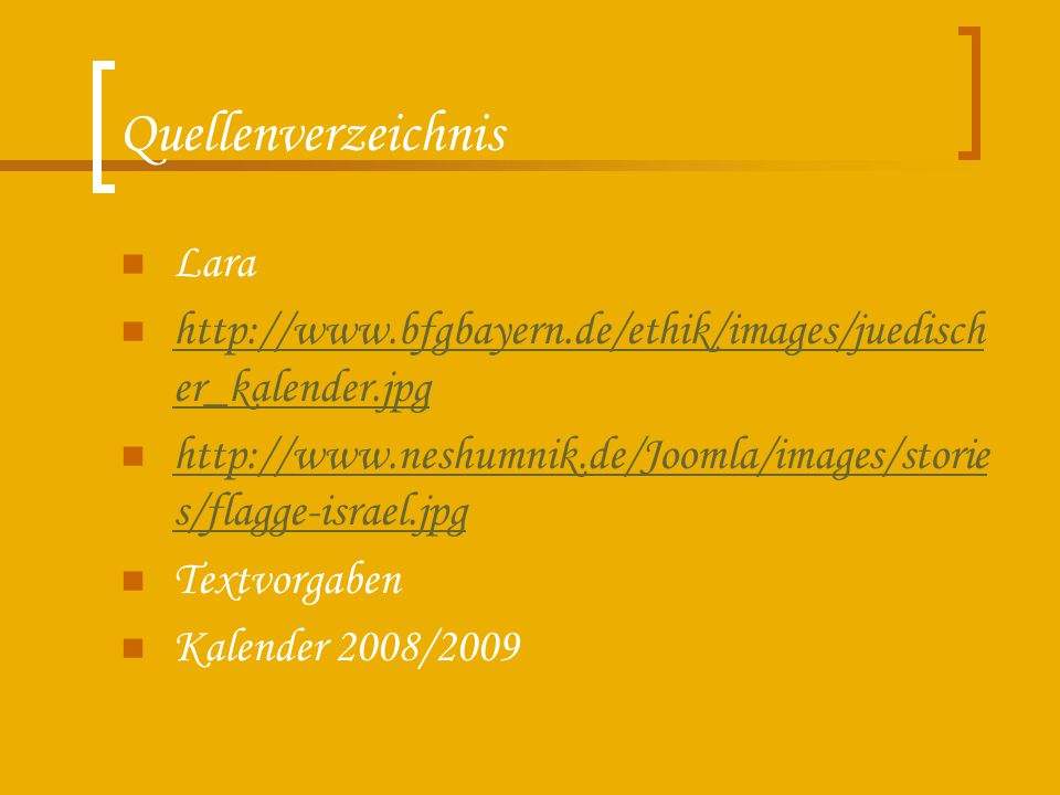 Quellenverzeichnis Lara