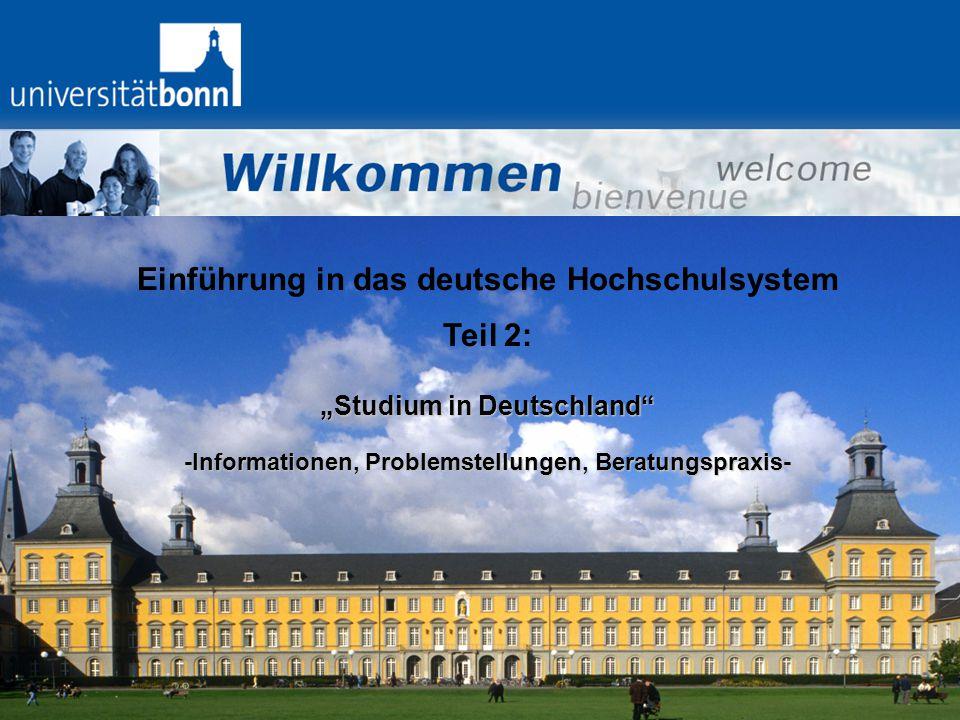 Einführung in das deutsche Hochschulsystem Teil 2: