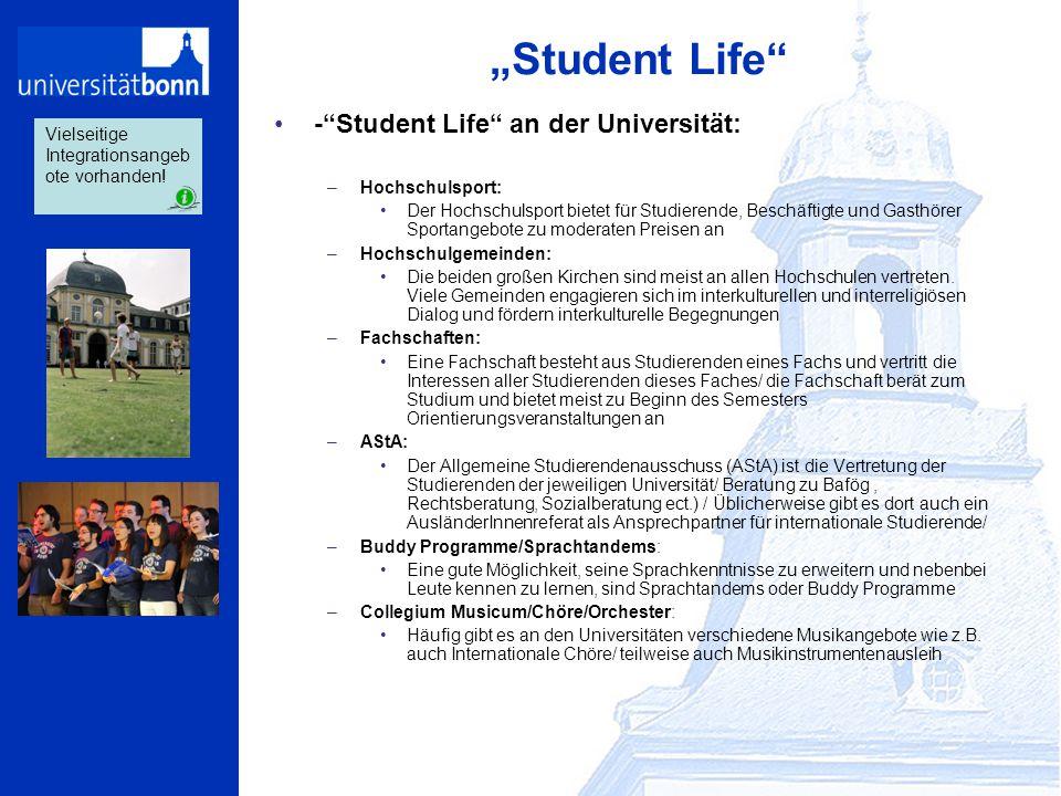 """""""Student Life - Student Life an der Universität:"""