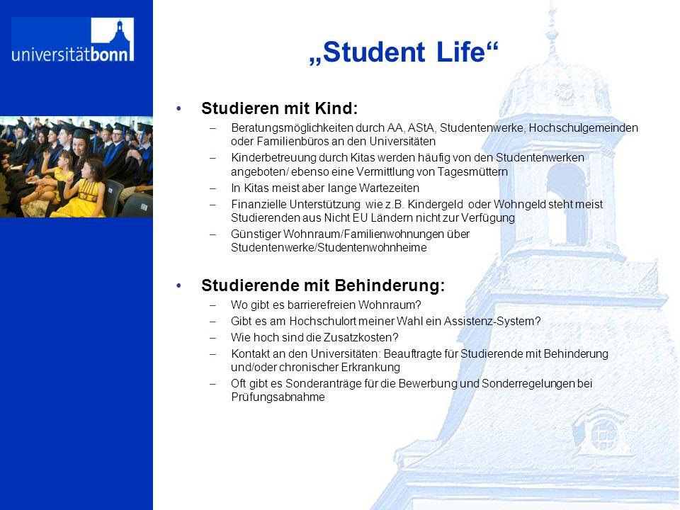"""""""Student Life Studieren mit Kind: Studierende mit Behinderung:"""