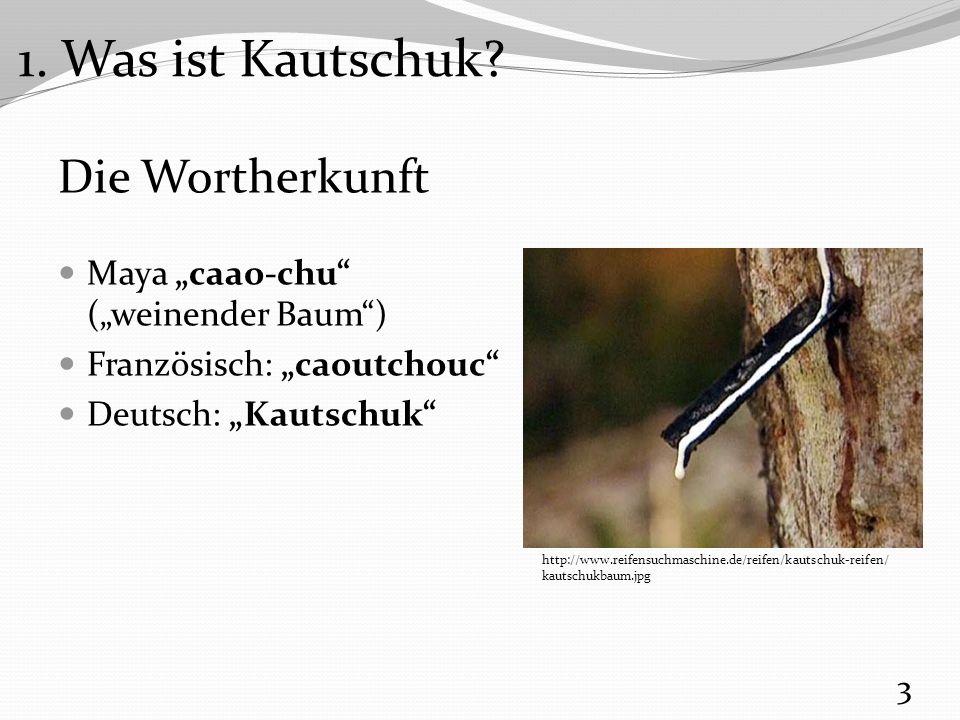 1. Was ist Kautschuk Die Wortherkunft