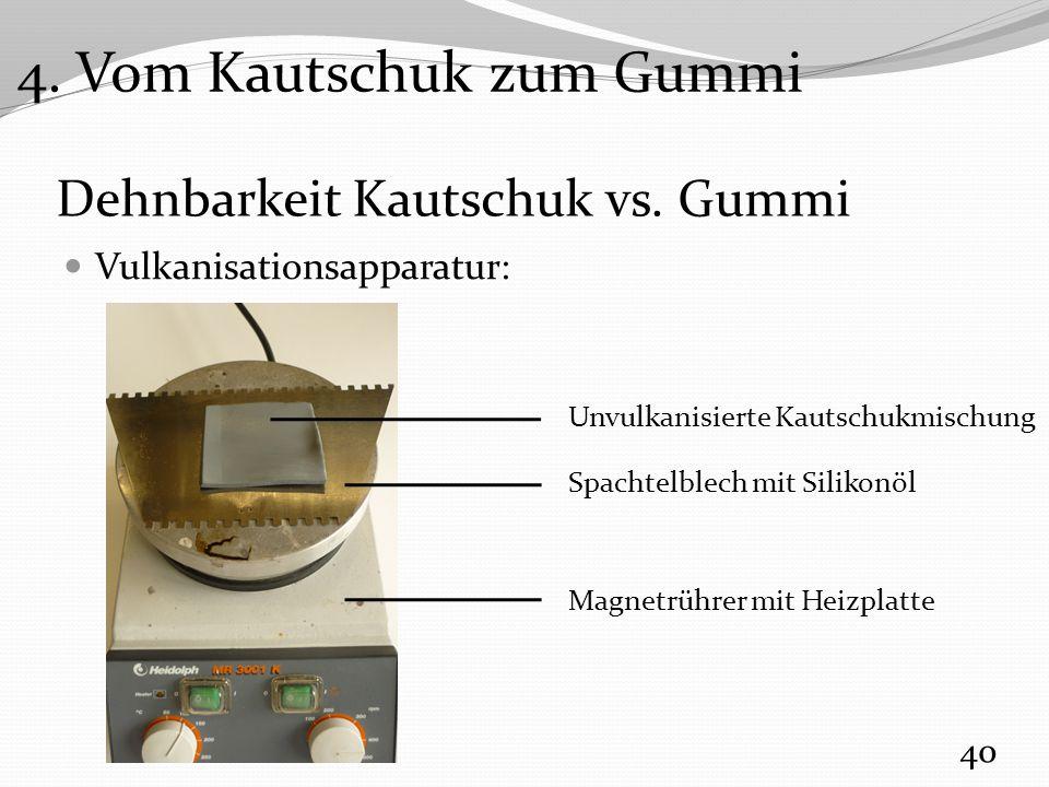 Dehnbarkeit Kautschuk vs. Gummi