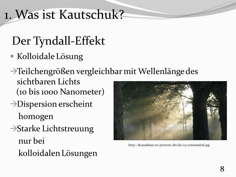 1. Was ist Kautschuk Der Tyndall-Effekt Kolloidale Lösung