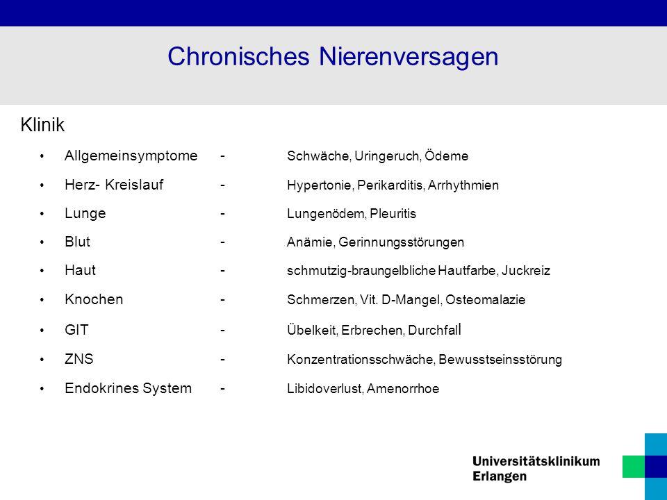 Chronisches Nierenversagen