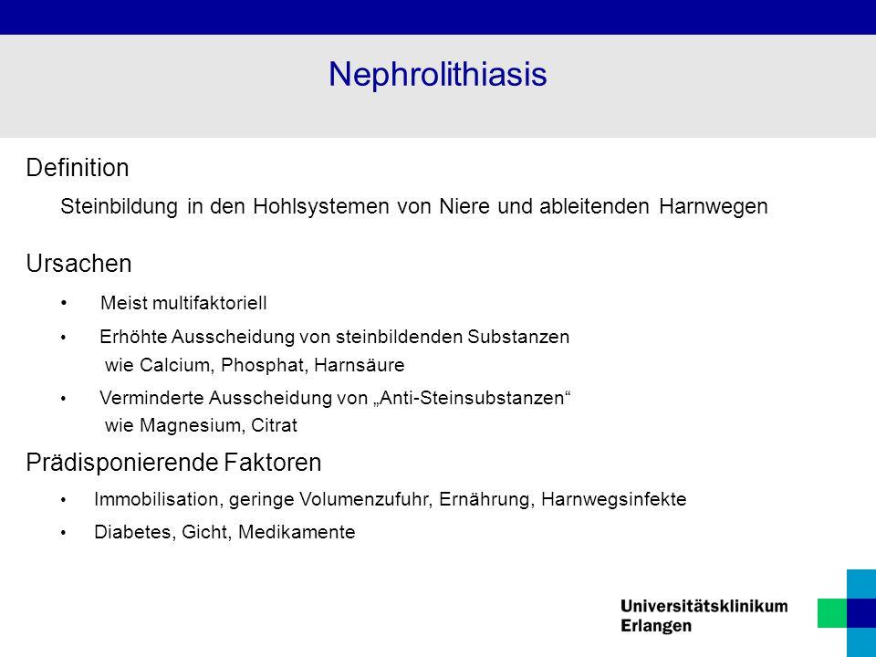 Nephrolithiasis Definition Ursachen Prädisponierende Faktoren