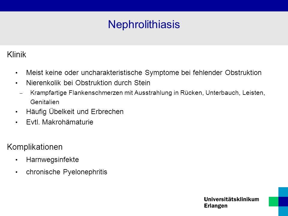 Nephrolithiasis Klinik Komplikationen