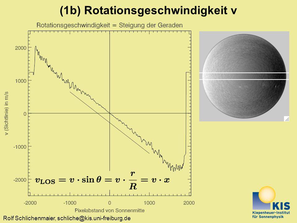 (1b) Rotationsgeschwindigkeit v