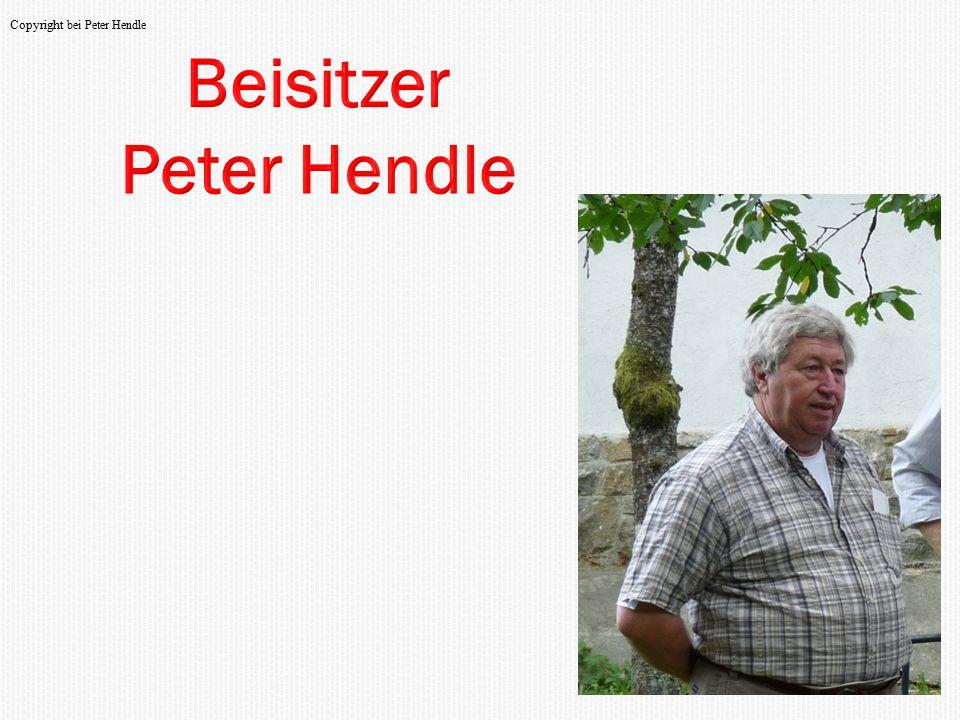 Beisitzer Peter Hendle