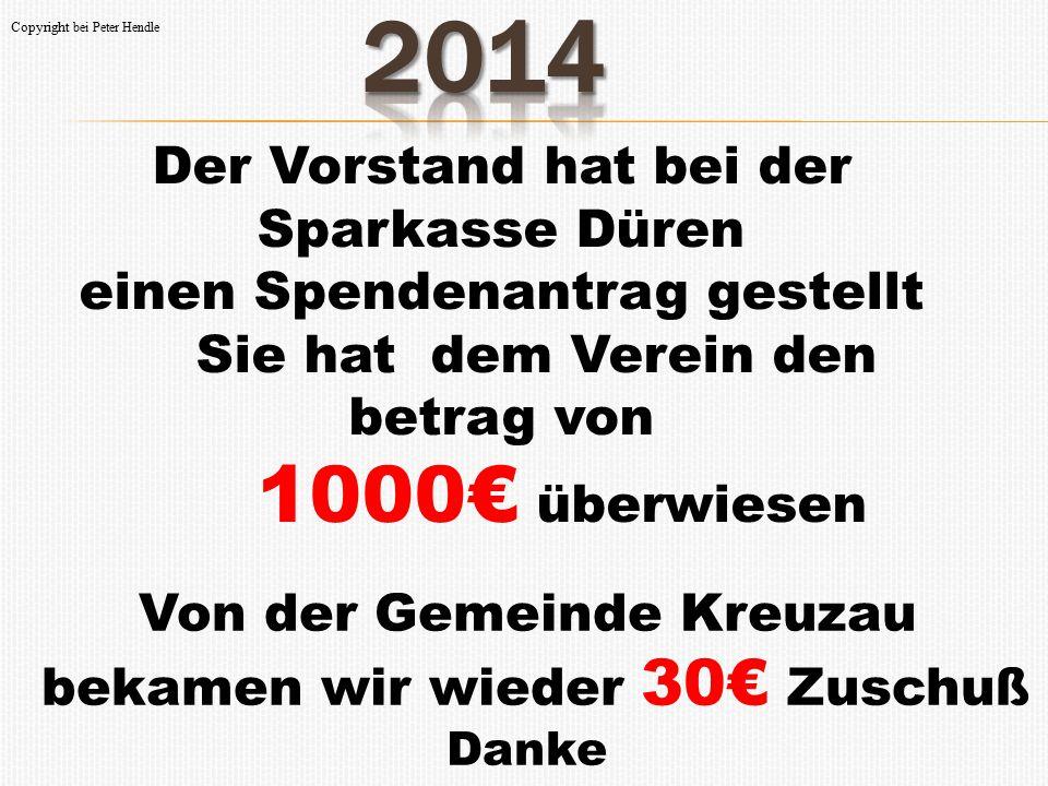 2014 Der Vorstand hat bei der Sparkasse Düren