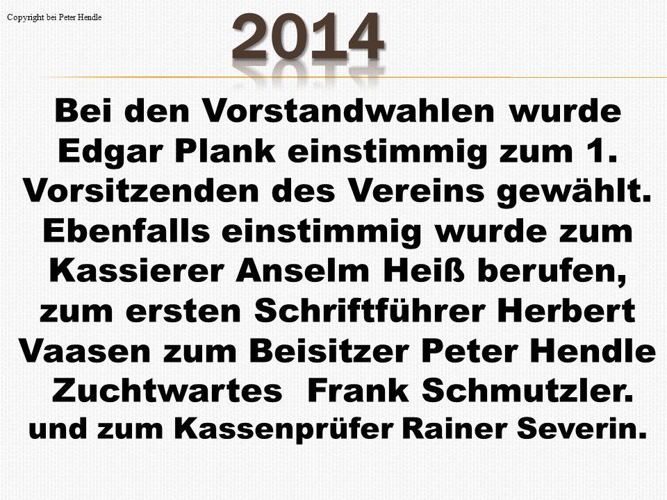 Zuchtwartes Frank Schmutzler. und zum Kassenprüfer Rainer Severin.