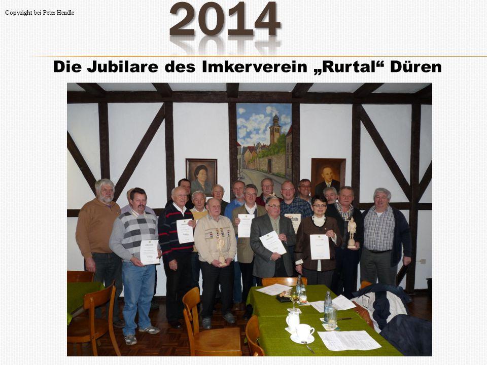 "2014 Die Jubilare des Imkerverein ""Rurtal Düren"