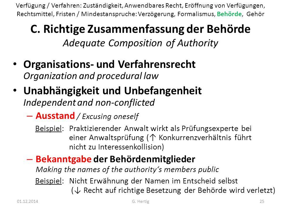 Verfügung / Verfahren: Zuständigkeit, Anwendbares Recht, Eröffnung von Verfügungen,