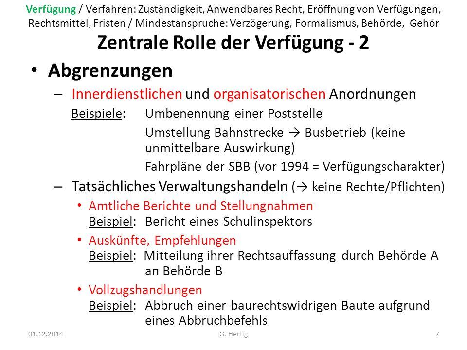 Zentrale Rolle der Verfügung - 2