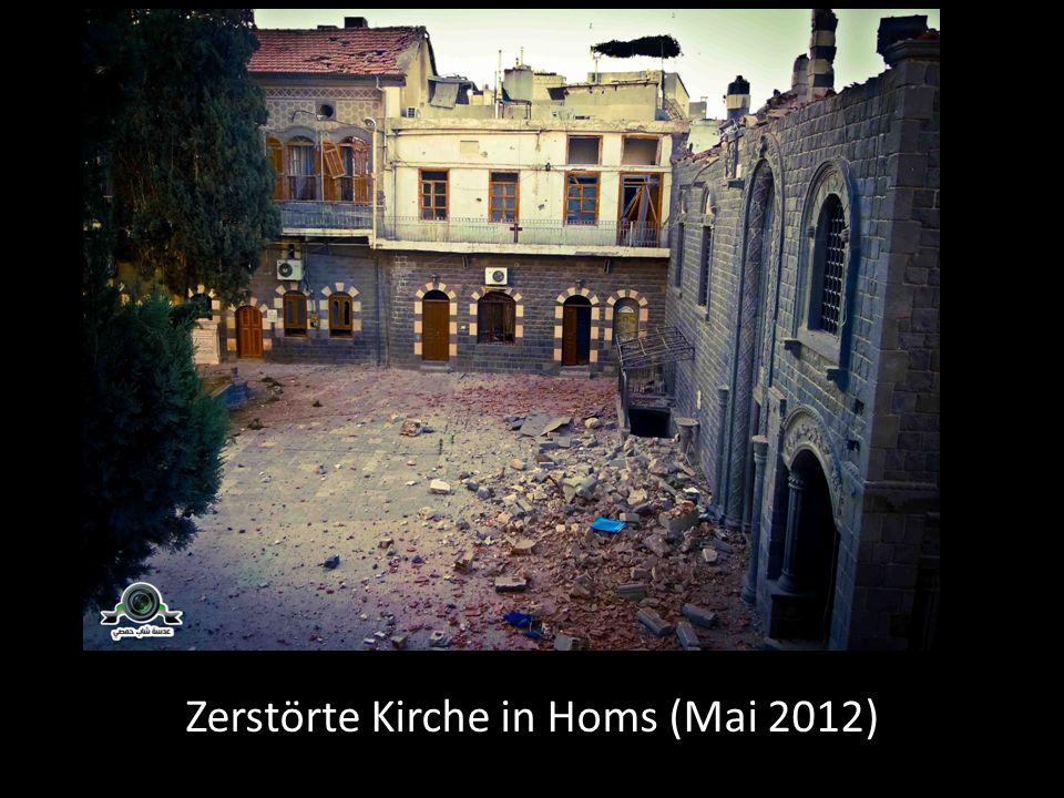 Zerstörte Kirche in Homs (Mai 2012)