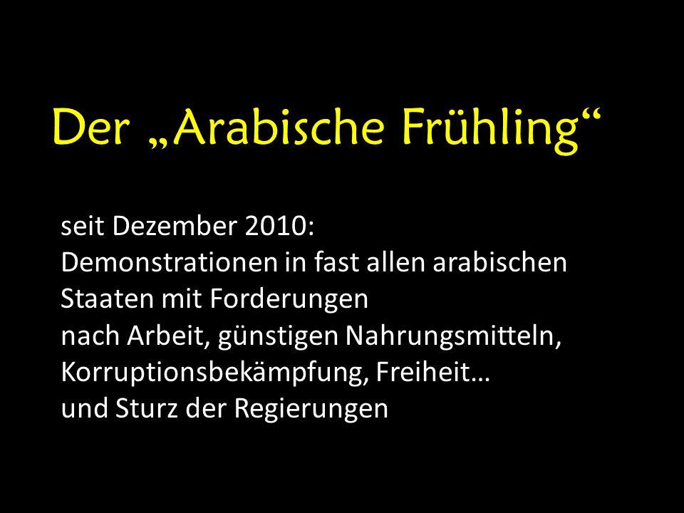 """Der """"Arabische Frühling"""