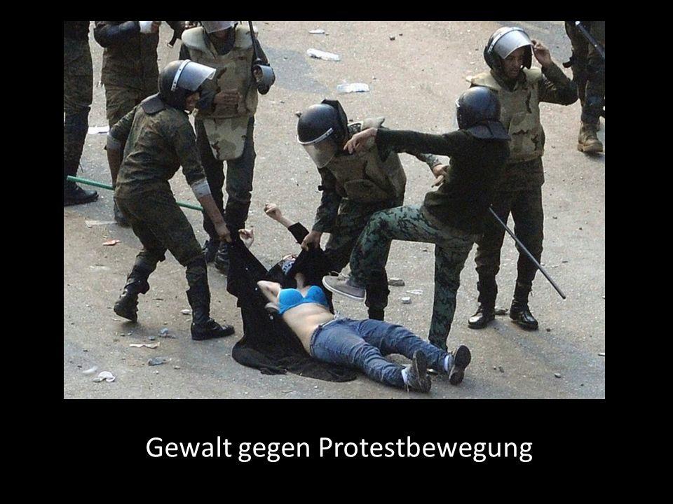 Gewalt gegen Protestbewegung