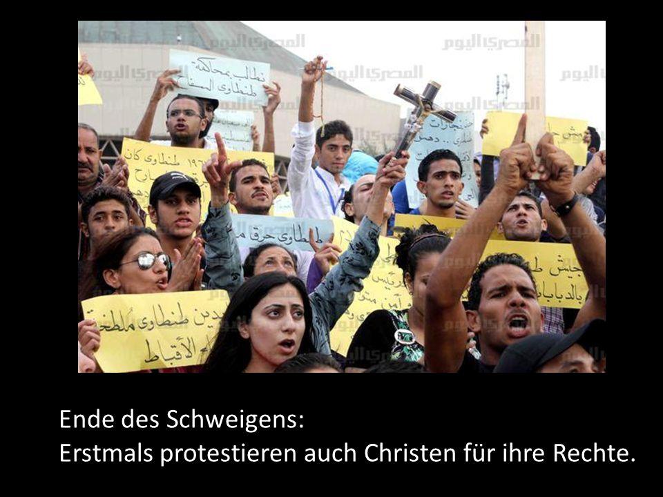 Ende des Schweigens: Erstmals protestieren auch Christen für ihre Rechte.