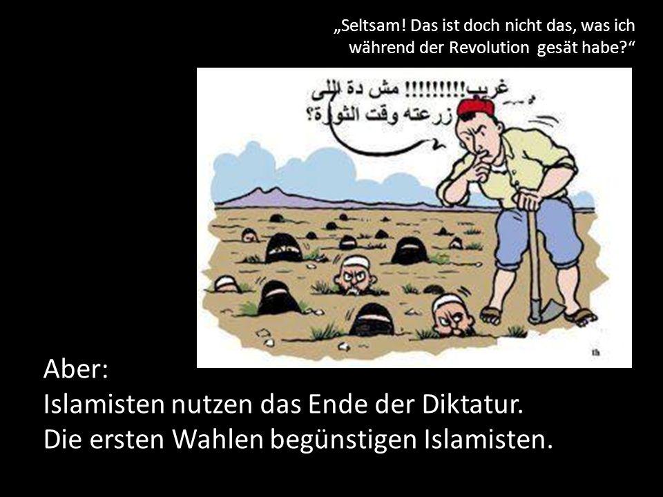 Islamisten nutzen das Ende der Diktatur.