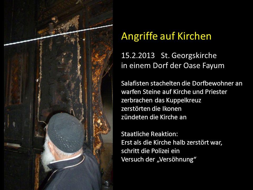 Angriffe auf Kirchen 15.2.2013 St. Georgskirche