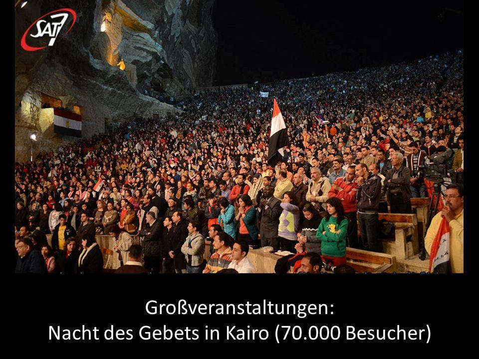 Großveranstaltungen: Nacht des Gebets in Kairo (70.000 Besucher)