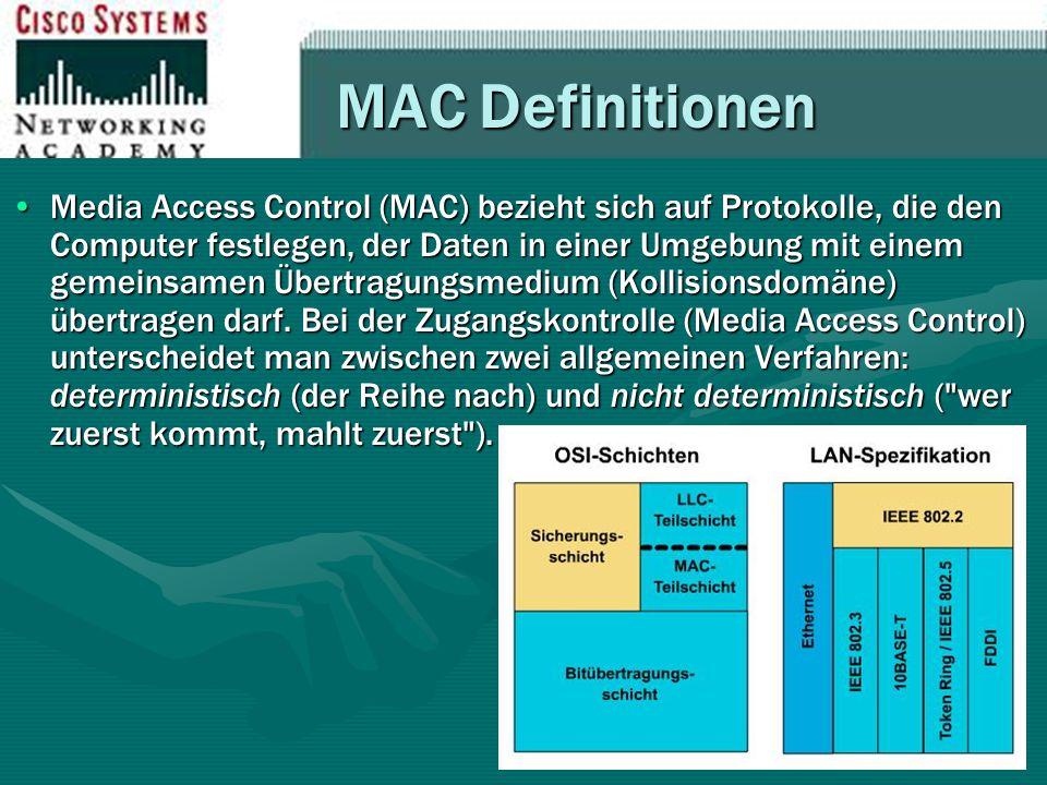 MAC Definitionen