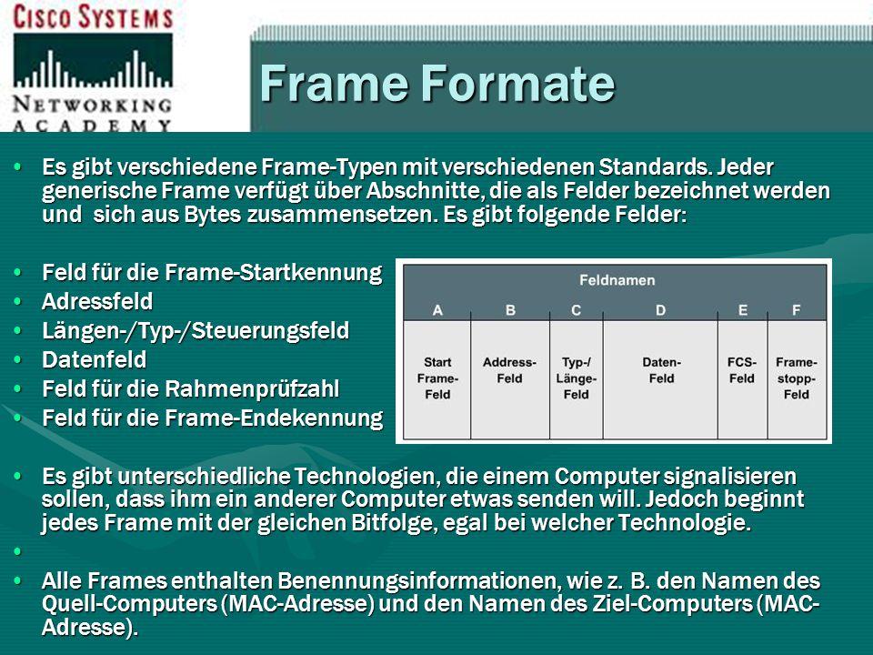 Frame Formate