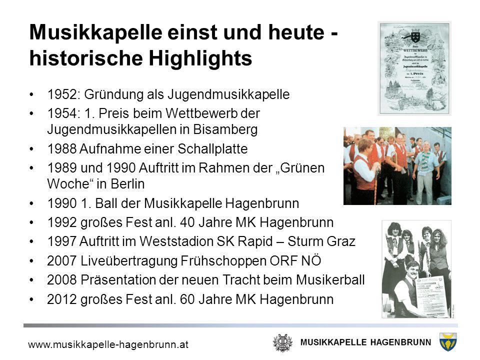 Musikkapelle einst und heute - historische Highlights