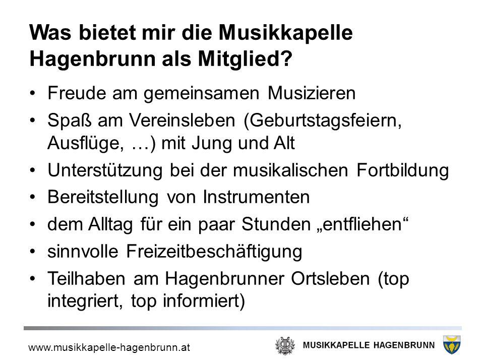 Was bietet mir die Musikkapelle Hagenbrunn als Mitglied