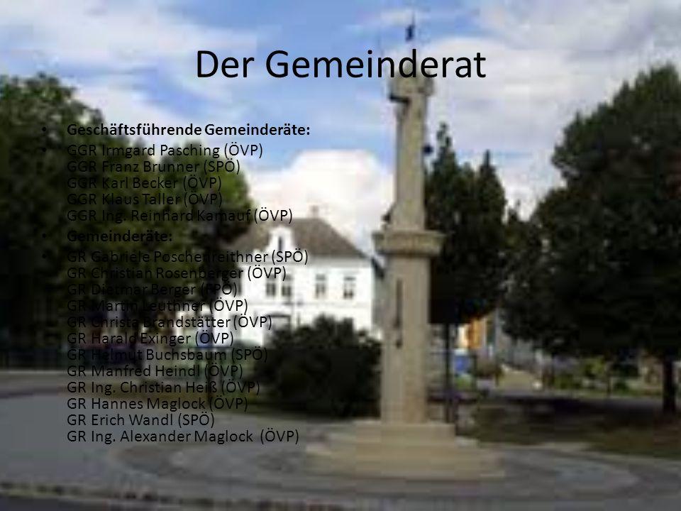 Der Gemeinderat Geschäftsführende Gemeinderäte: