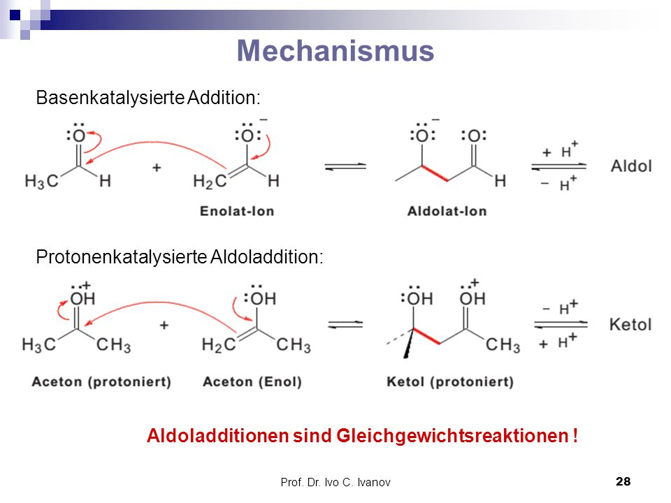 Mechanismus Basenkatalysierte Addition: