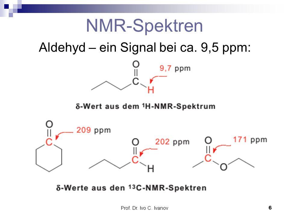 Aldehyd – ein Signal bei ca. 9,5 ppm: