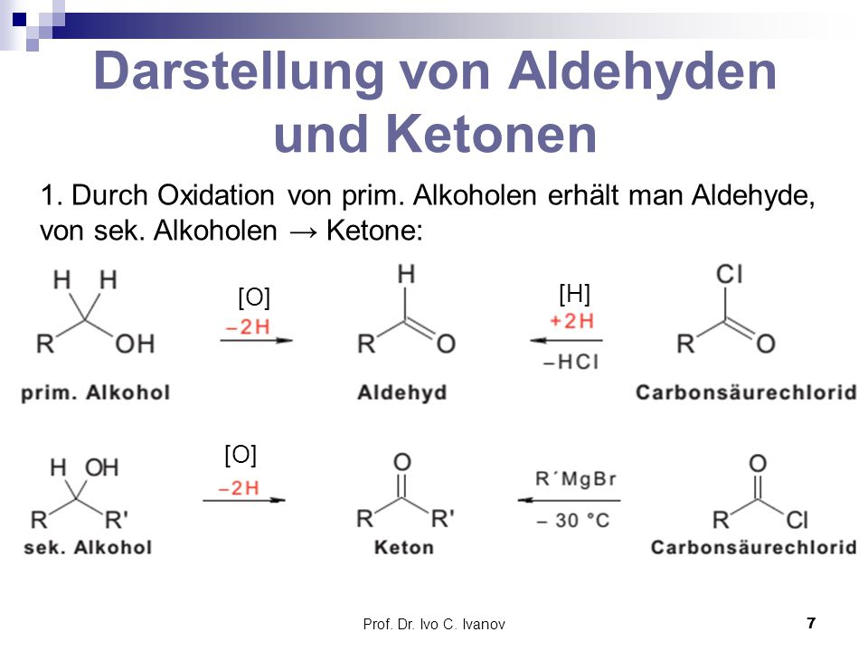 Darstellung von Aldehyden und Ketonen
