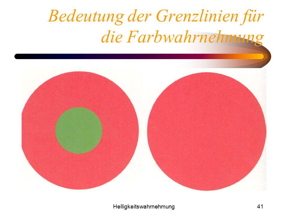 Bedeutung der Grenzlinien für die Farbwahrnehmung
