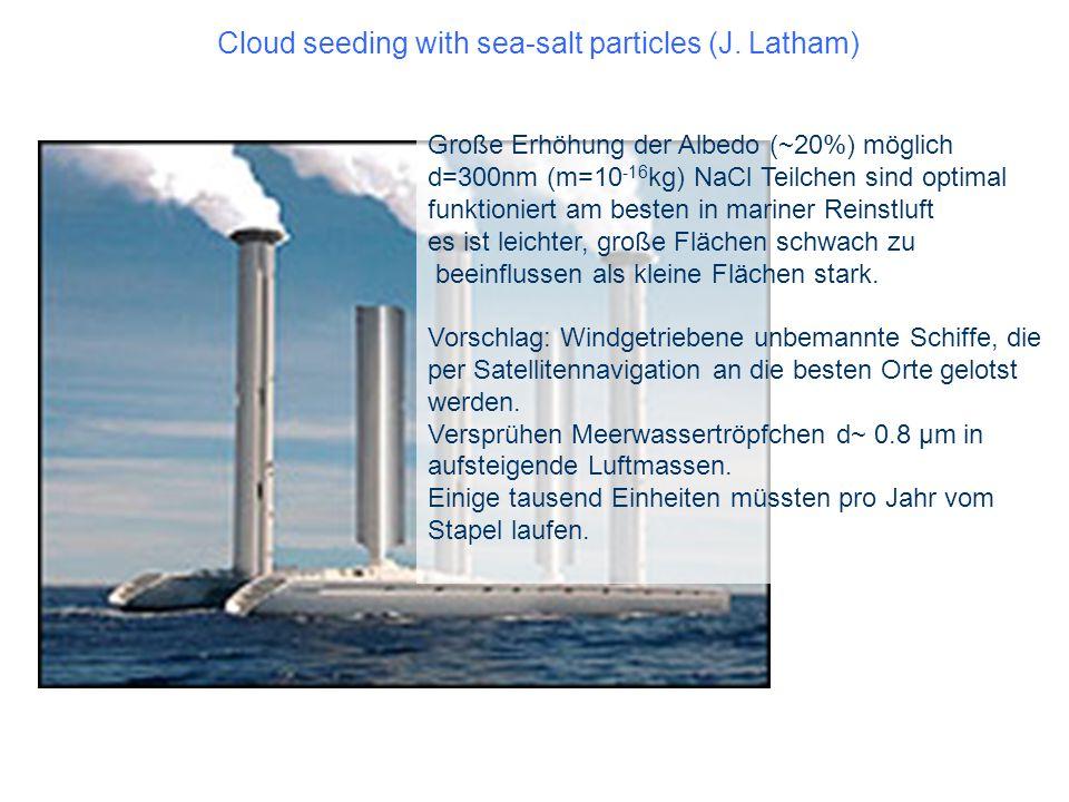 Cloud seeding with sea-salt particles (J. Latham)