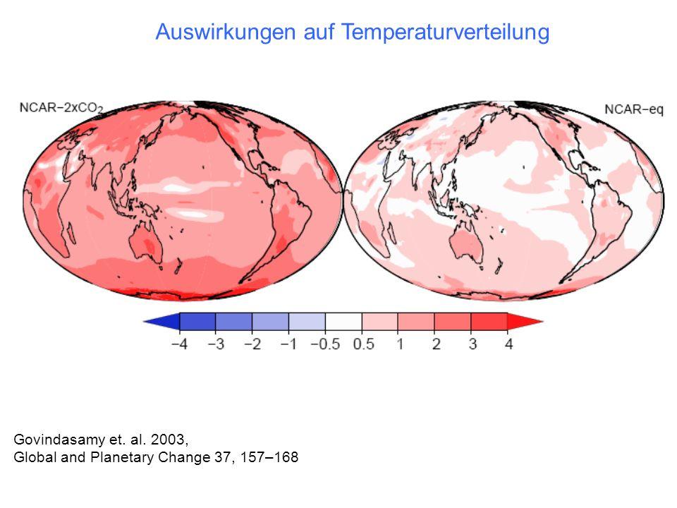Auswirkungen auf Temperaturverteilung